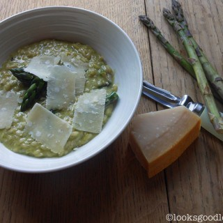 Asparagus, Parmesan, Lemon and Mint Risotto