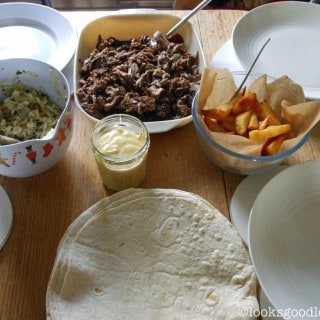 Slow Cooker Lamb Wraps