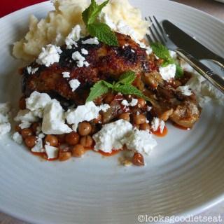 Harissa Roasted Chicken with Chickpeas