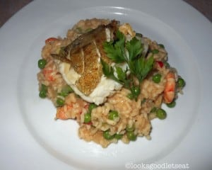 Pan-Fried-Cod-with-Prawn-and-Pea-Risotto-2