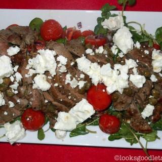 Lamb Tagliata with Watercress and Tomatoes