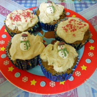Christmas Carrot Cake Muffins