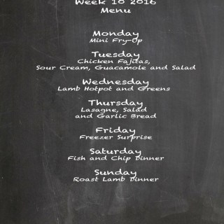 Family Menu Week 10 2016