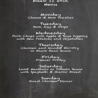 Family Menu Week 11 2016