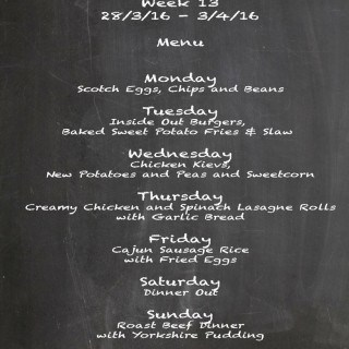 Family Menu Week 13 2016
