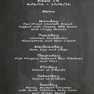 Family Menu Week 14 2016