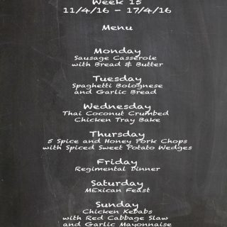 Family Menu Week 15 2016