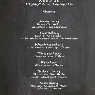 Family Menu Week 16 2016