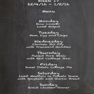 Family Menu Week 17 2016