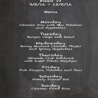 Family Menu Week 19, 2016