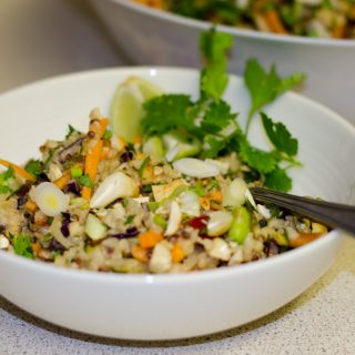 Thai Inspired Quinoa and Bulgar Wheat Salad