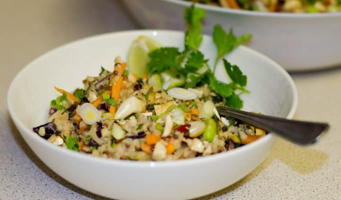 Thai Inspired Quinoa and Bulgur Wheat Salad
