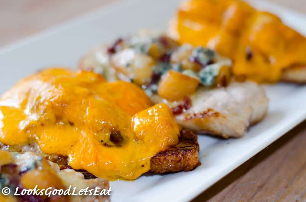 Ultimate Apple and Cheese Pork Chops